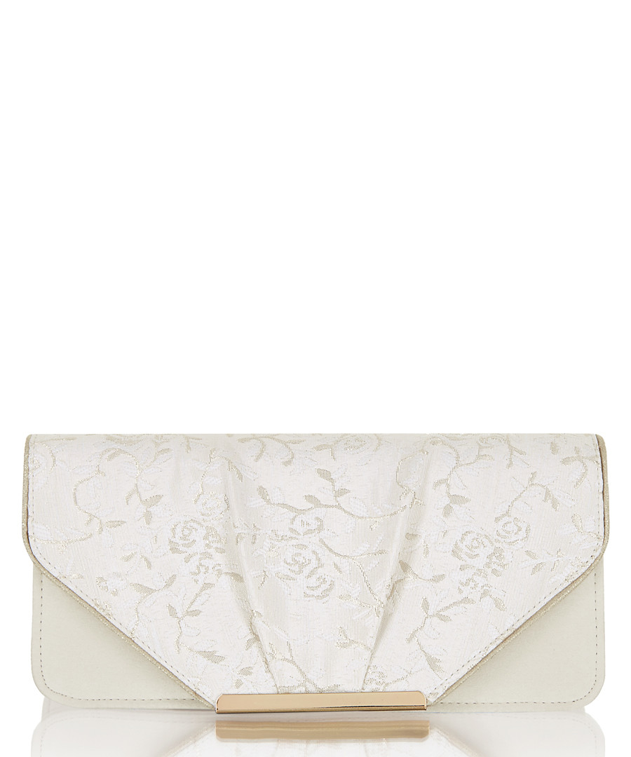 Bologna cream floral clutch bag Sale - ruby shoo