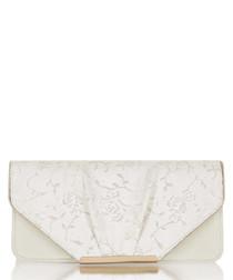 Bologna cream floral clutch bag
