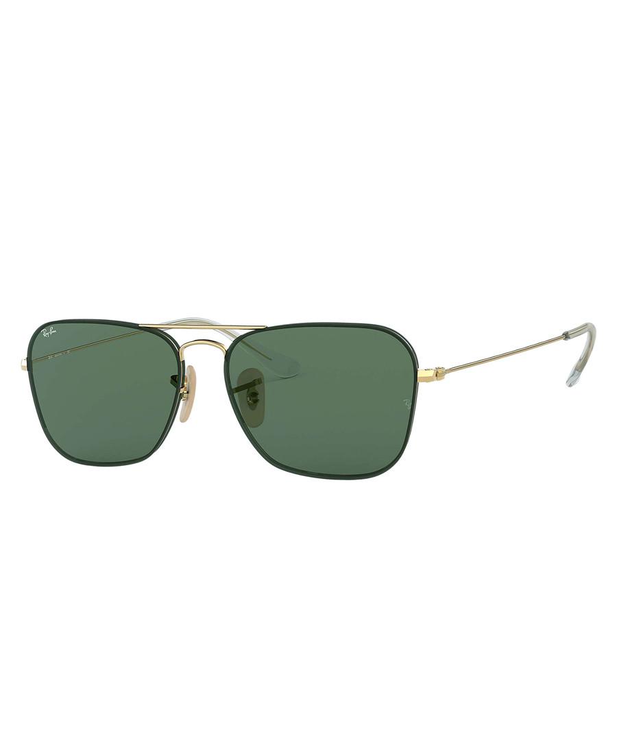 2e2e0222a55 Gold   green sunglasses Sale - Rayban Sale
