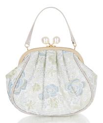 Arco blue print clasp grab bag