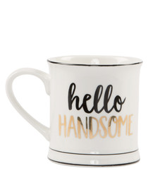 Hello Handsome metallic print mug