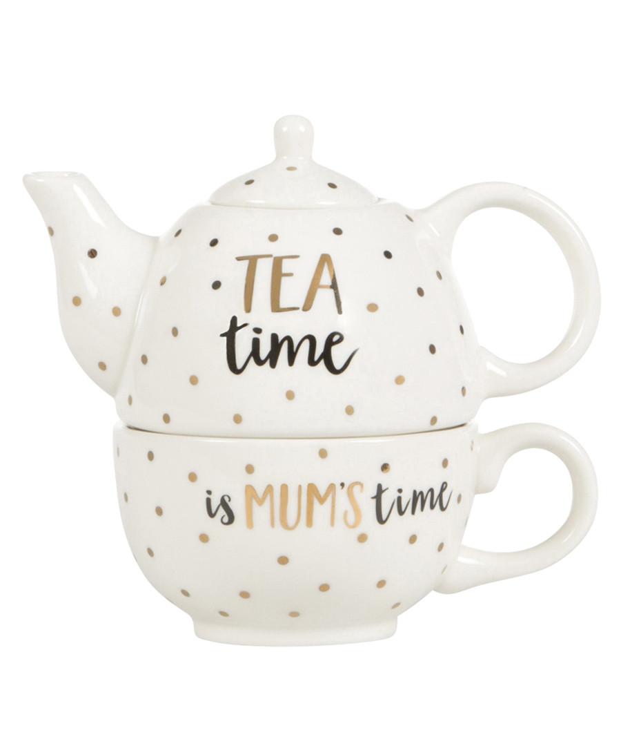 2pc Mum Time teapot & mug set Sale - sass & belle
