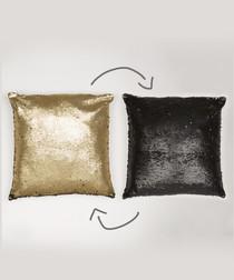Two-tone colour change sequin cushion