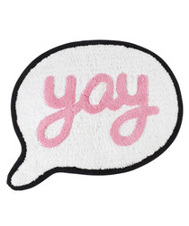 Say Yay cotton speech bubble rug