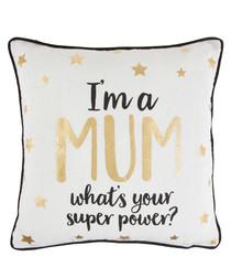 I'm A Mum metallic cushion