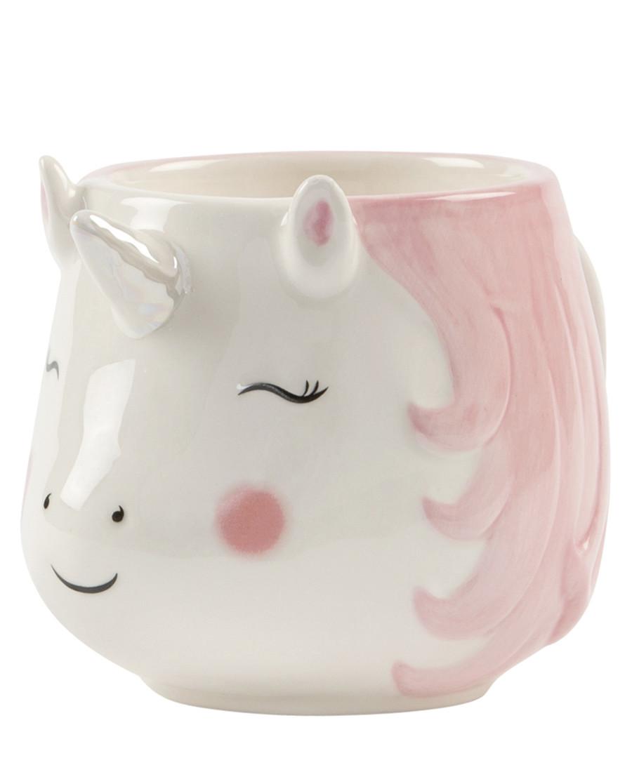 Rainbow Unicorn pink & white mug Sale - sass & belle