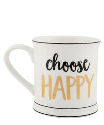 Choose Happy porcelain mug