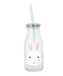 Bertie Bunny straw & milk bottle
