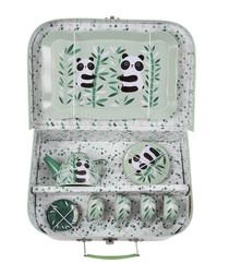 14pc Aiko Panda Picnic Box tea set