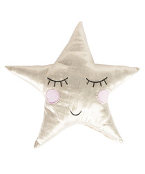 Shining Star silver-tone cushion