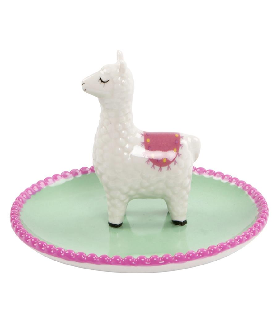 Lima Llama green & pink trinket dish Sale - sass & belle