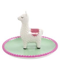 Lima Llama green & pink trinket dish