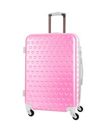 Rhoda pink spinner suitcase 70cm