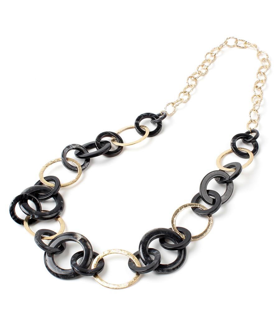 Black & gold-tone link necklace Sale - amrita singh