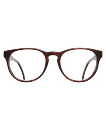Matte Dark Turtle clear lens glasses