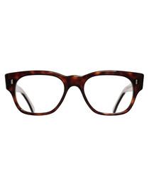 Dark Turtle Vintage clear lens glasses