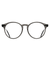 Crystal Black rounded clear lens glasses