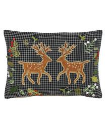 Deer multi-colour pure cotton cushion