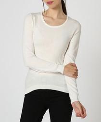 Natural cashmere & silk jumper