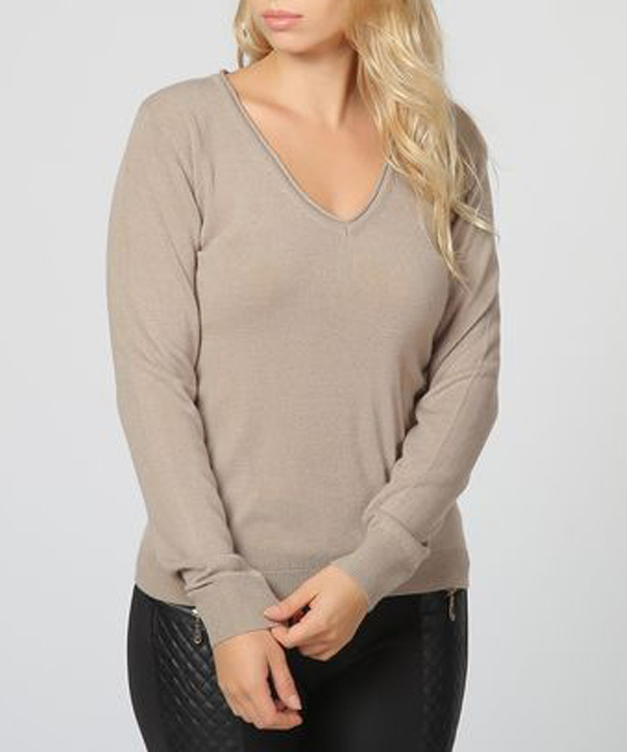 Desert cashmere V-neck jumper Sale - william de faye