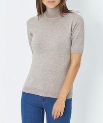 Desert cashmere short sleeve jumper