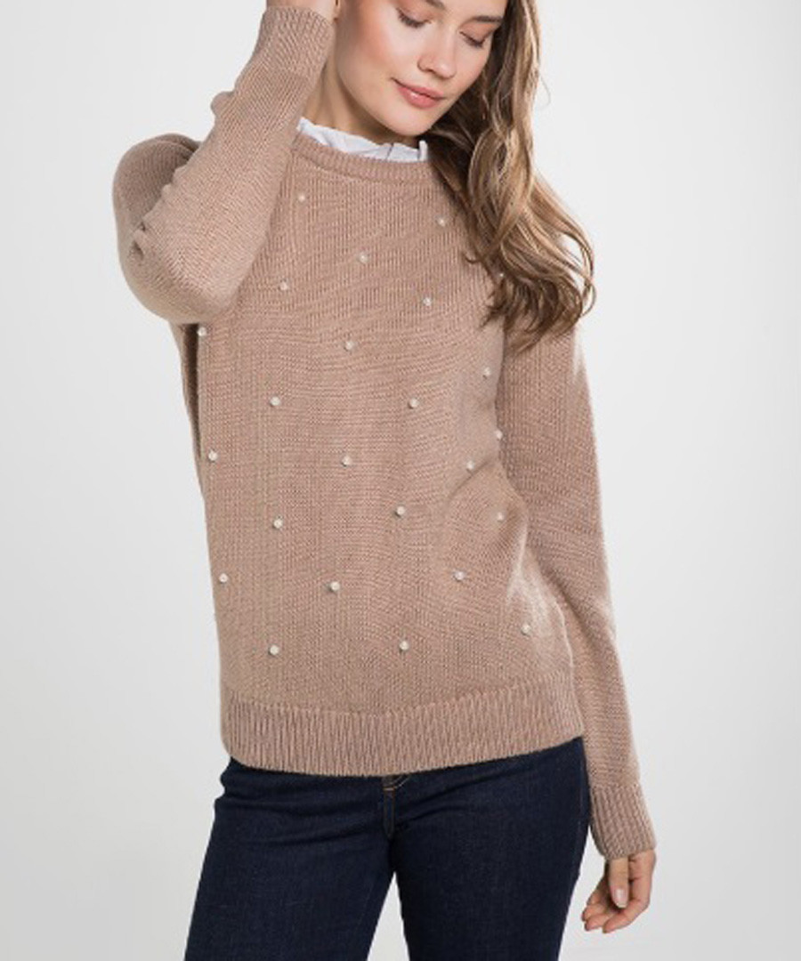 Desert cashmere & mohair detailed jumper Sale - william de faye