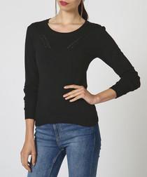 Noir cashmere & silk jumper