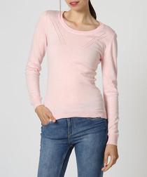 Pink cashmere & silk jumper