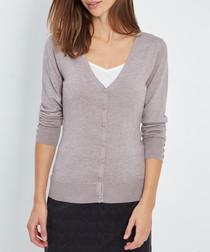 Desert cashmere button-up cardigan