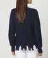 Navy cashmere & mohair distressed jumper Sale - william de faye Sale