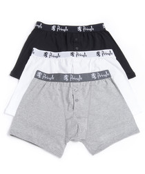3pc William multi-colour cotton boxers