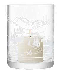 Alpine silver-tone storm lantern 19cm