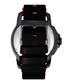 Monarch red & black leather watch Sale - reign Sale