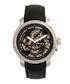 Matheson steel & black leather watch Sale - reign Sale