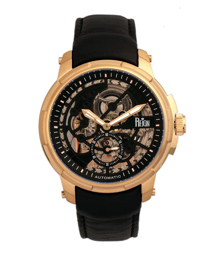 Matheson gold-tone & black leather watch Sale - reign