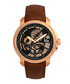 Matheson rose gold-tone & leather watch Sale - reign Sale