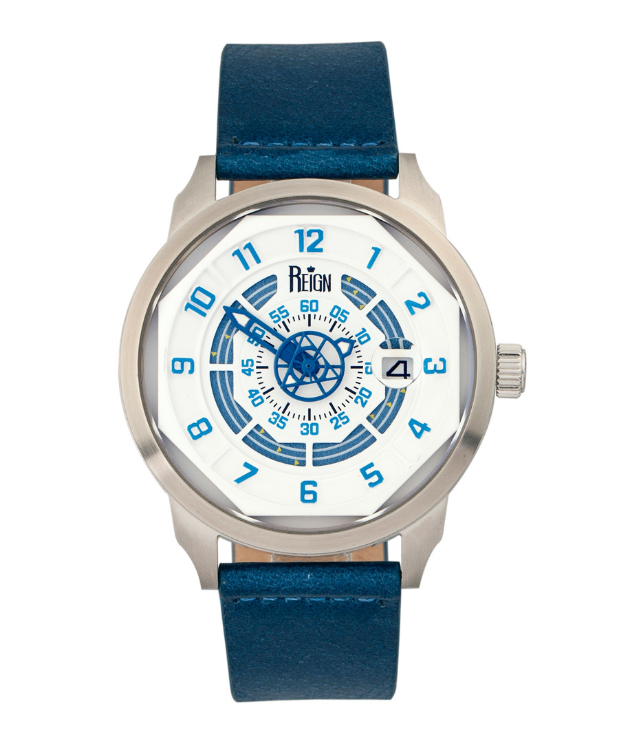 Lafleur steel & blue leather watch Sale - reign
