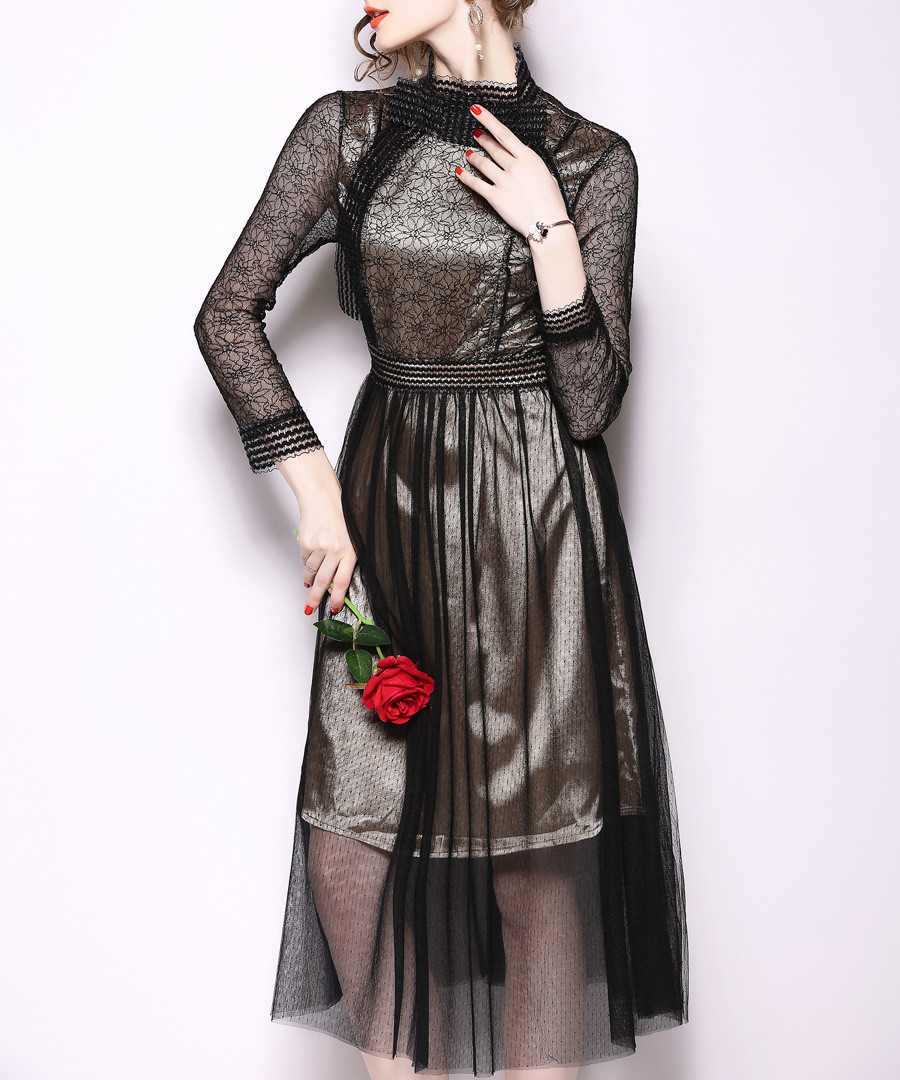 Black long sleeve dress Sale - kaimilan