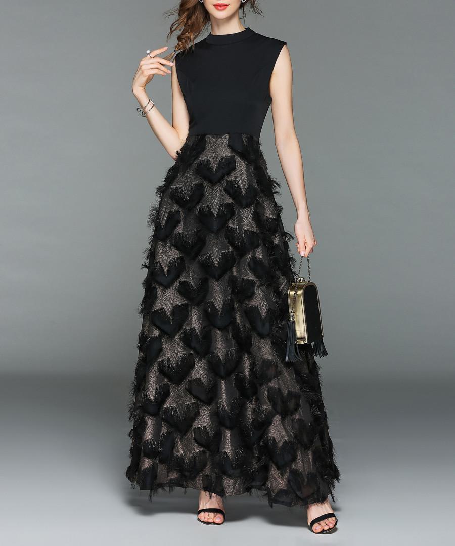 Black sleeveless maxi dress Sale - Kaimilan