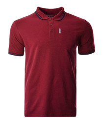 Red twin tip pocket polo