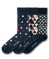 3pc Ince Castle cotton blend socks Sale - black & parker Sale