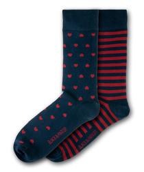 2pc Cliveden cotton blend socks