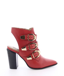 BamericanaX red leather ankle boots