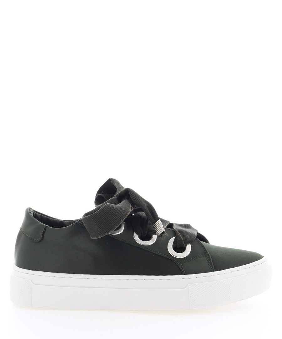 ByardenX dark green leather sneakers Sale - Bronx