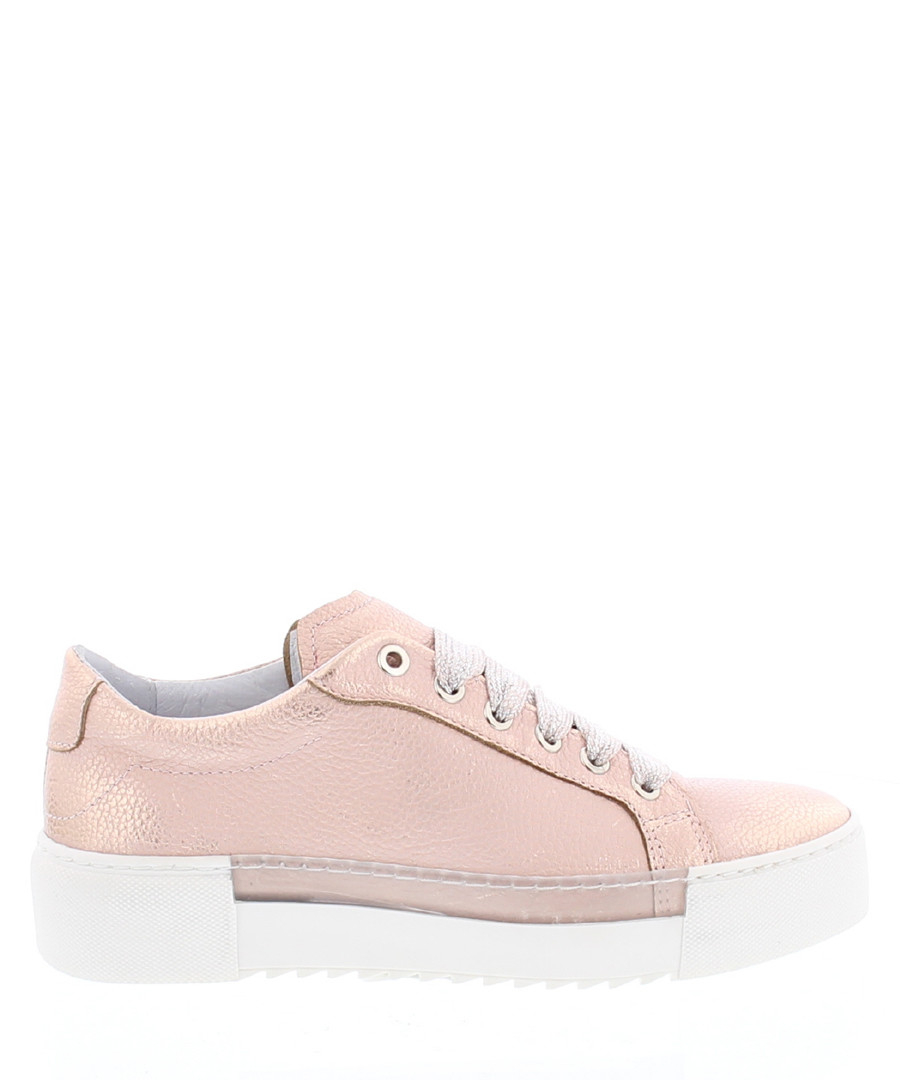 BcapsuleX pale pink leather sneakers Sale - Bronx