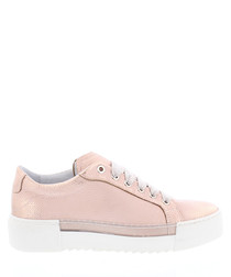 BcapsuleX pale pink leather sneakers