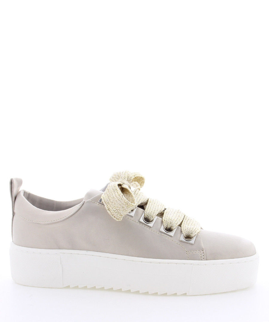 BcapsuleX olive leather lace-up sneakers Sale - Bronx