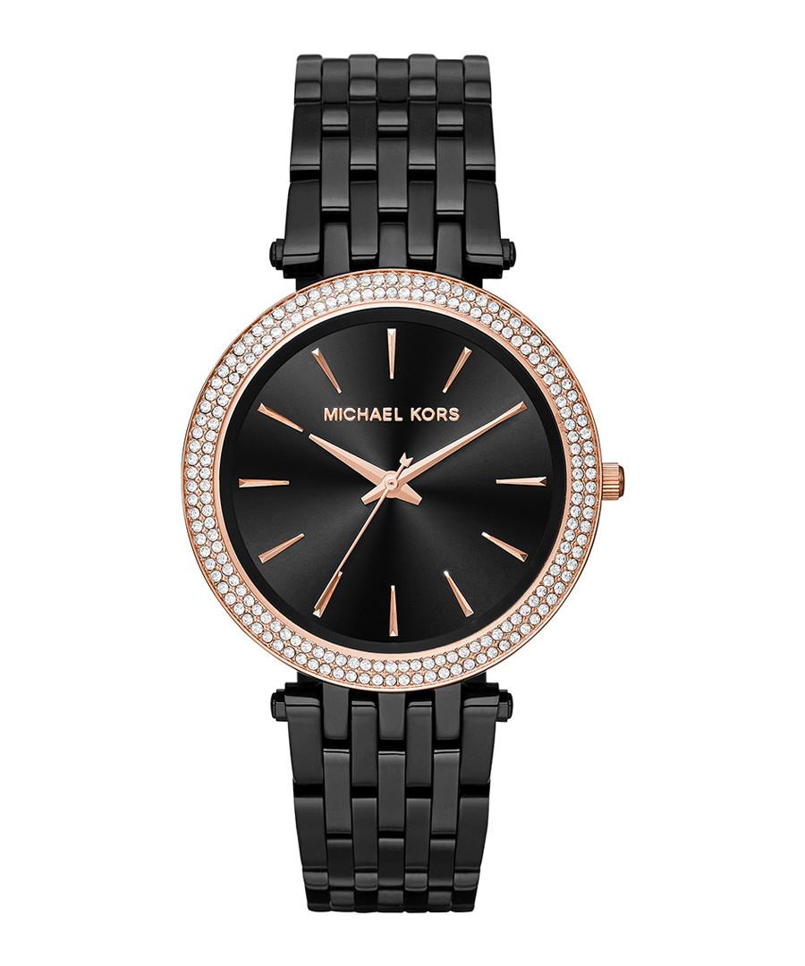 Black & rose gold-tone steel watch Sale - michael kors