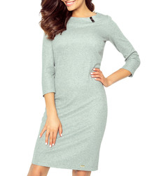 Grey fitted midi dress