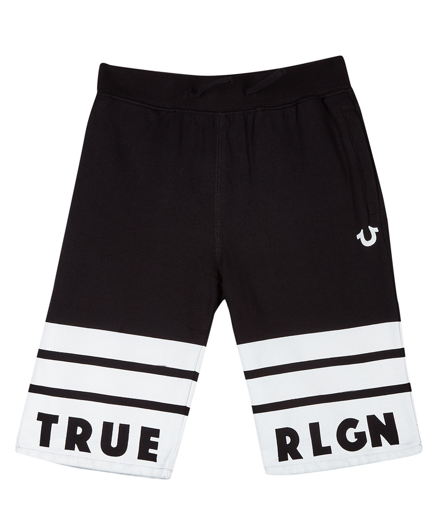 Boys' black cotton logo shorts Sale - true religion